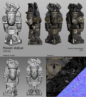 Mayan sculpture by t17dr