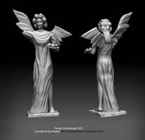 Broken angel sculpture by t17dr