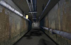 Underground corridor by t17dr