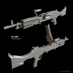 M-240 highpoly by t17dr