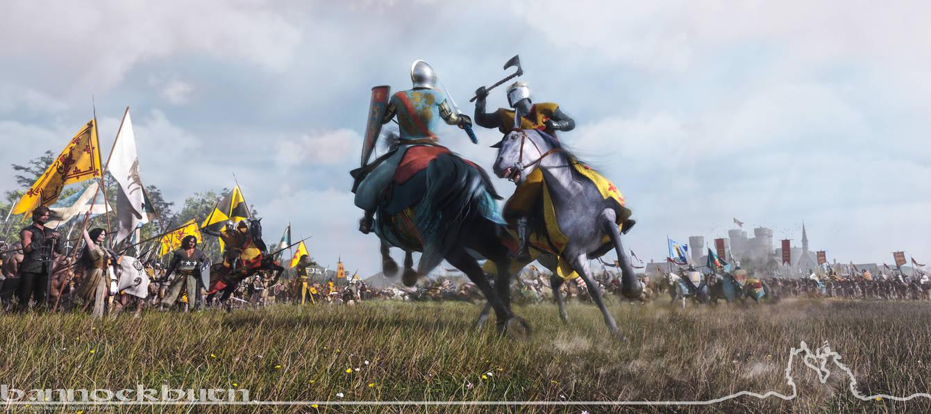 The Battle of Bannockburn - First day.