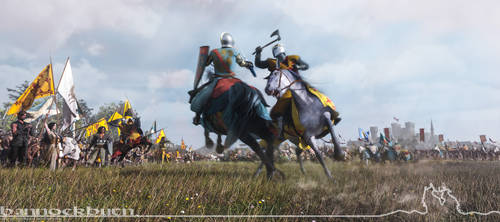 The Battle of Bannockburn - First day.