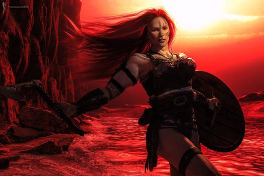 Pose Study: Red cliffs