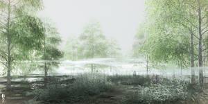 DAZ3D Forest Landscape study: Dawn
