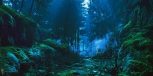 DAZ3D Forest Landscape study: Night