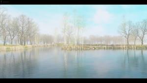 DAZ3D Landscape Study: Winter Lake