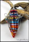 Lampwork Perfume Vessel Bottle