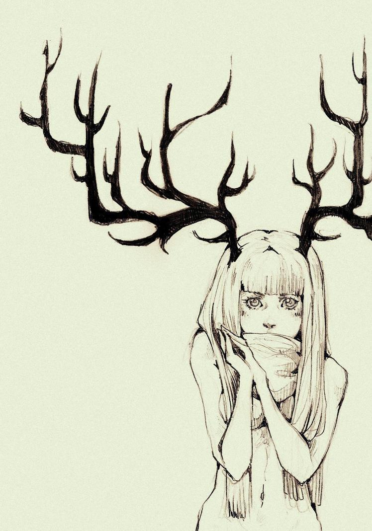 волк девушка арт   animegoodfonru