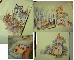 Illustrations WIP by Loputyn