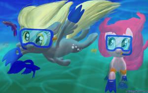 Happy Derpy Underwater Magics by DeathPwny