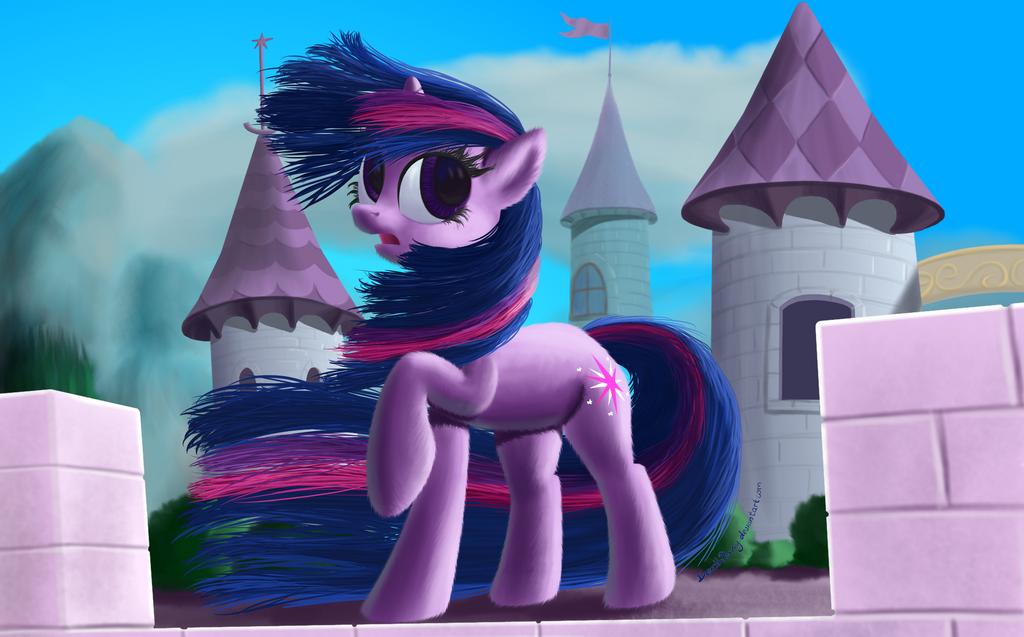 Windy Mane Twilight by DeathPwny