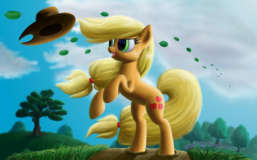 Windy Mane Applejack by DeathPwny