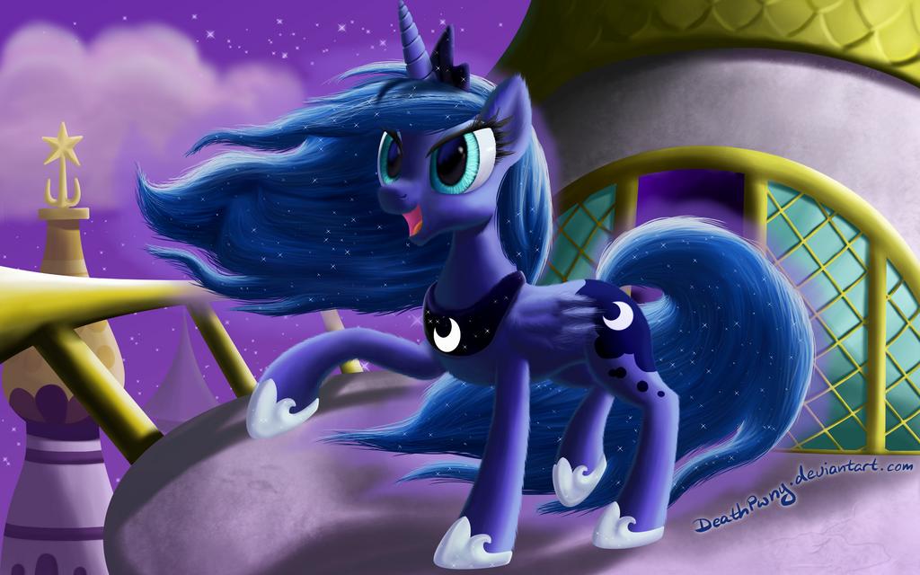 Windy Maned Luna by DeathPwny