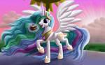 Windy Mane Celestia by DeathPwny