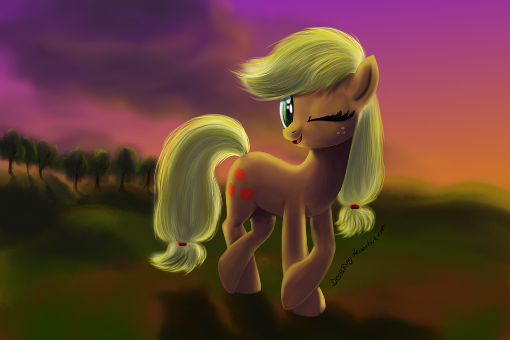 Appletest Speedpaint by DeathPwny
