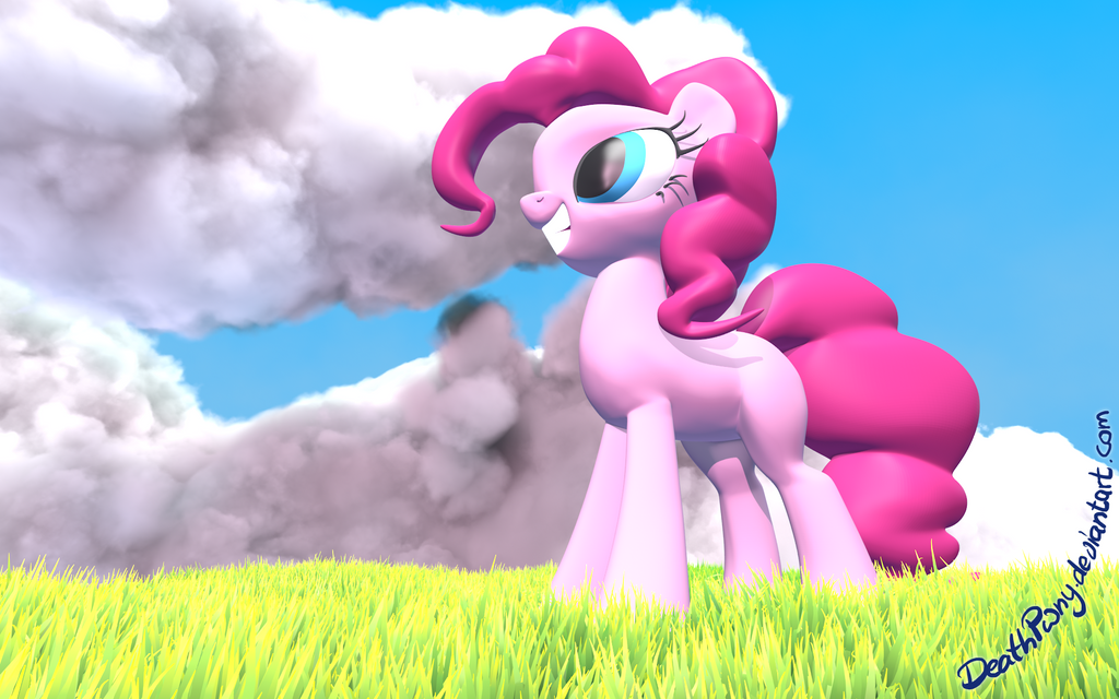 Pink Pone is up to something by DeathPwny