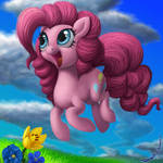 Pinkie Square from the EFNW Charity Quilt by DeathPwny