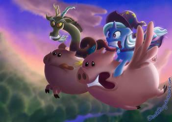 Pig Race by DeathPwny