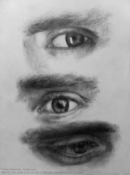 Tom Hiddleston-Eye Study Ballpoint Pen by Bubblegum-Jellybean