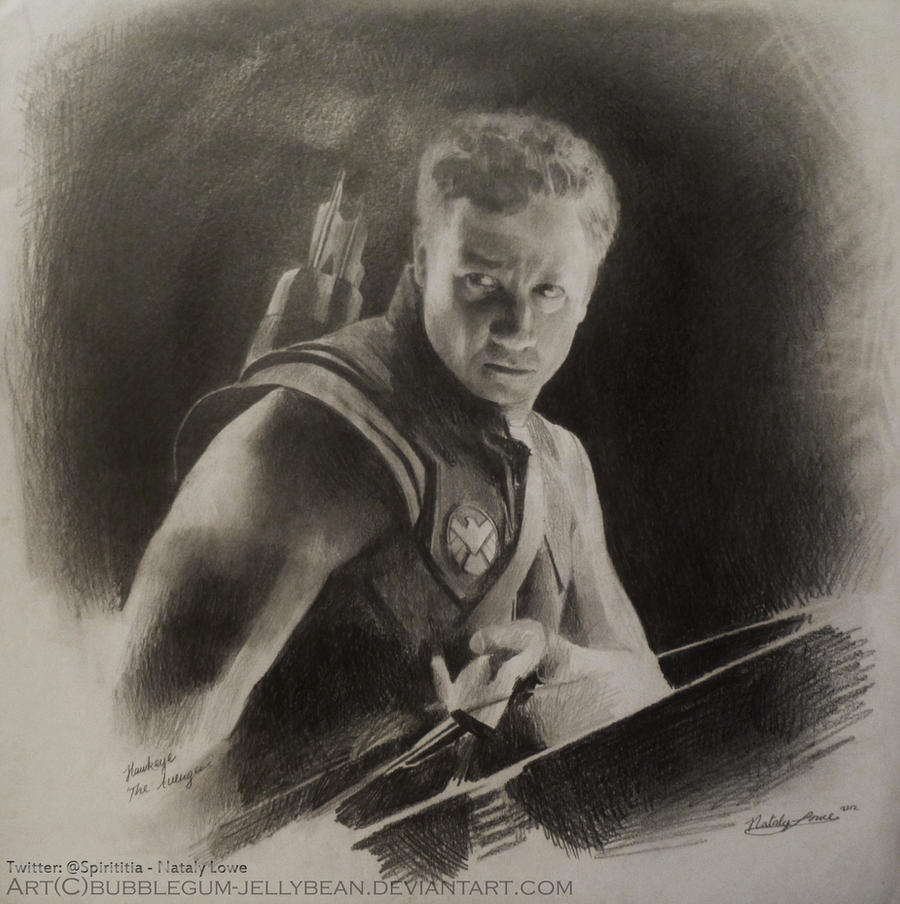 Hawkeye Drawing The Avengers (Jeremy Renner) by Bubblegum-Jellybean