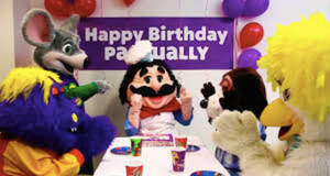 Chuck E And Friends Celebrating Pasqually's BDay