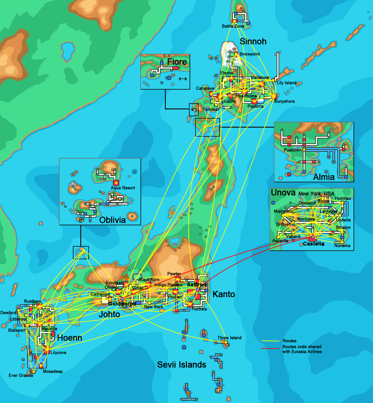 Pokemon Airlines Route Map 2013 By Maxcheng95 On Deviantart
