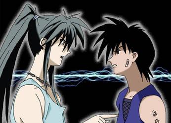 Tokiya and Recca's spat by Kase-dog