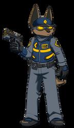 Police Dog by FalloutFoxDraws