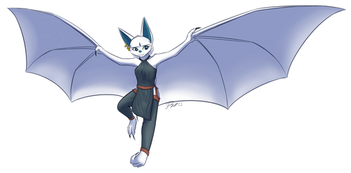 White Bat by FalloutFoxDraws