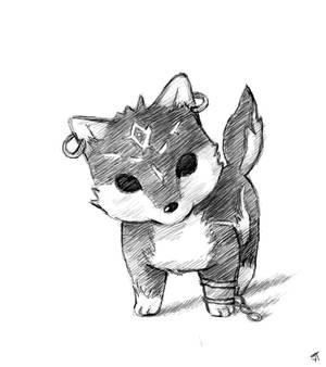 wolf-link chibi