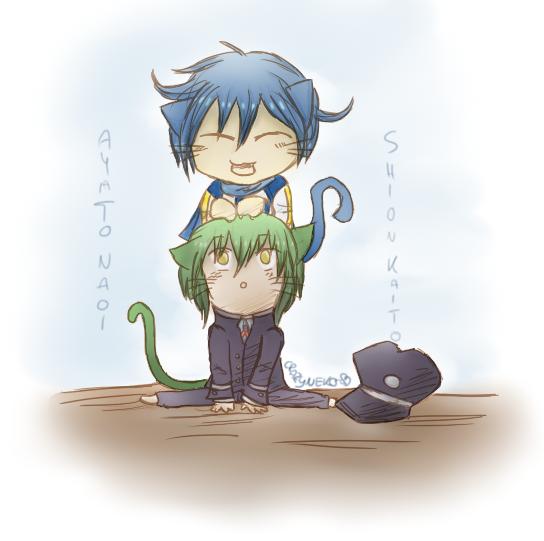 [Neko] Kaito and Naoi by Azunamiyo