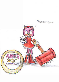 Amy Roses tenth anniversary