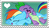 RainbowSpike Stamp