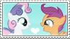 .:request:. Scootabelle Stamp by schwarzekatze4