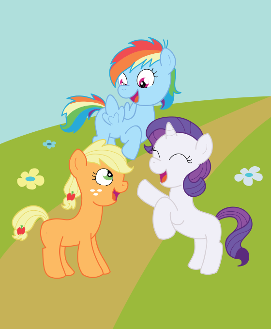 Harmony Crusaders AU: The Cutie Three by schwarzekatze4