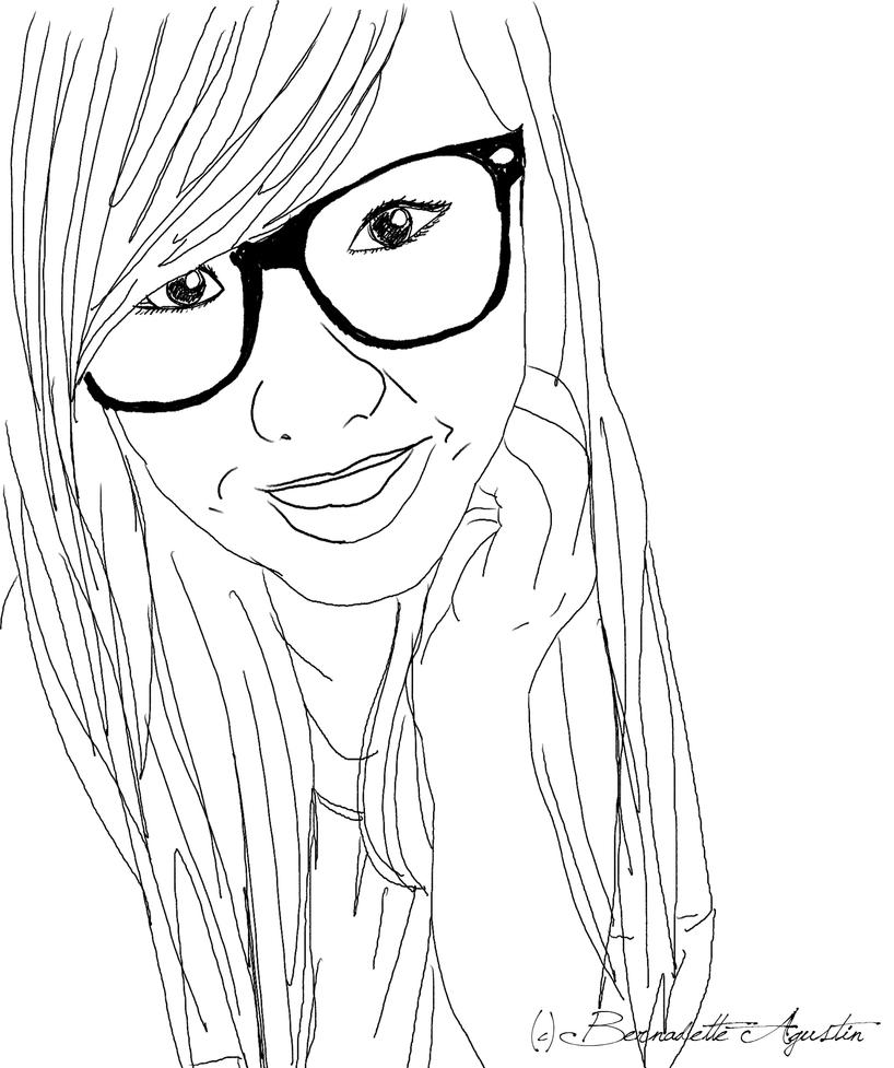 Line Art Person : Vector second attempt by pink popcorn on deviantart