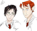 Harry and Ron doodlums