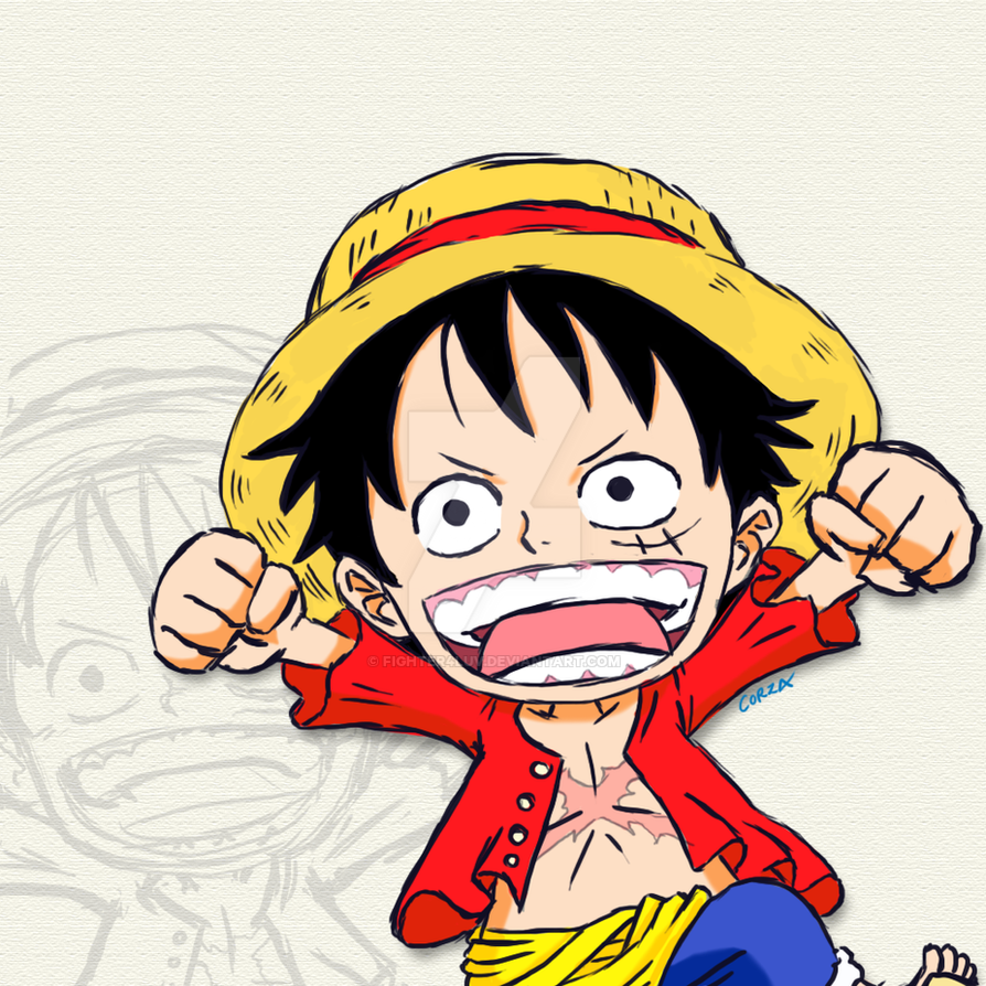 Monkey D. Luffy in Chibi form by Fighter4luv