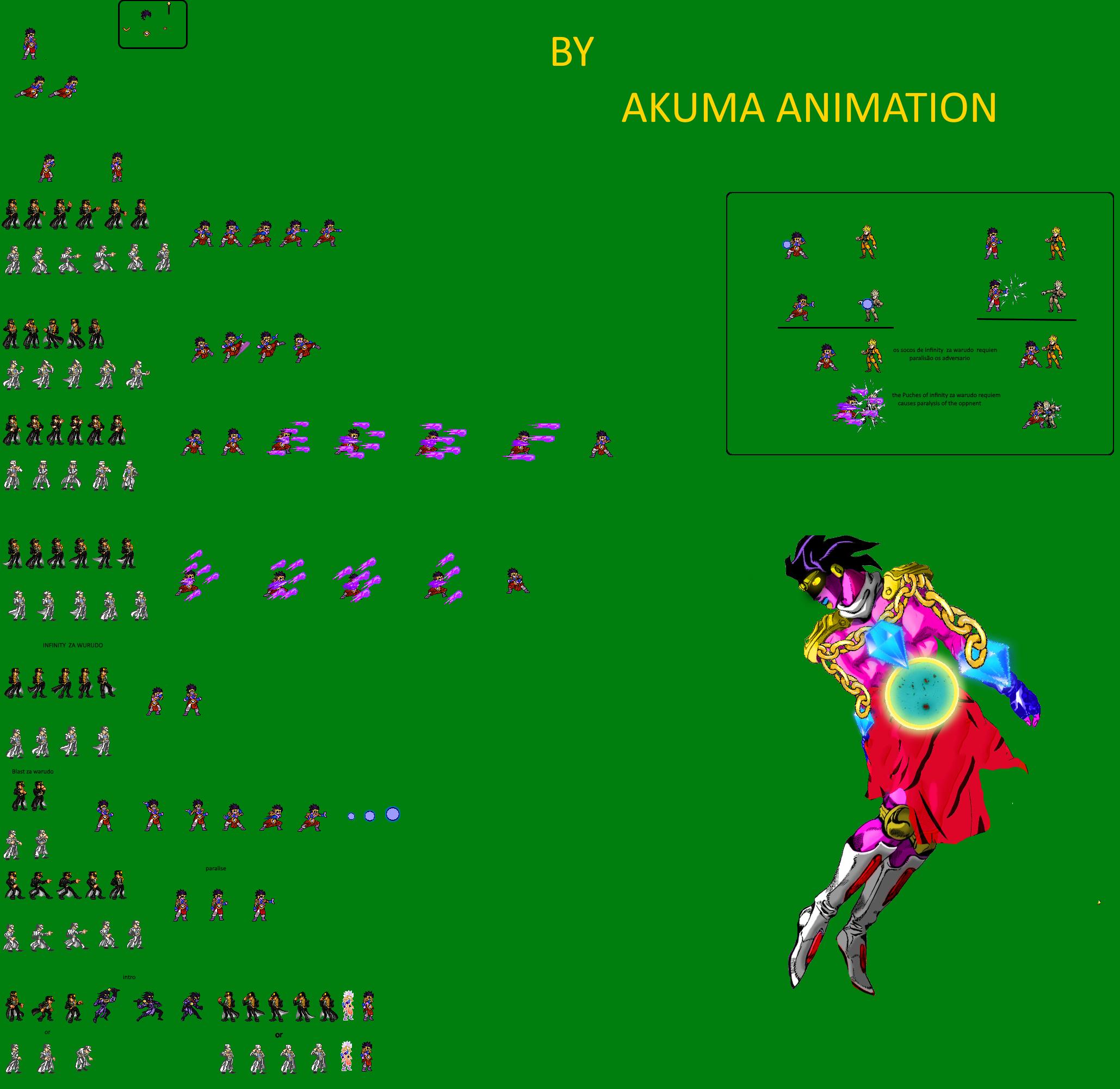 Jojo Star Platinum Requiem Jus Sprite Sheet By Akuma Animation098 On Deviantart