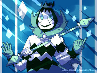king of diamonds deltarune by KathyShadely