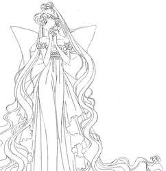 Neo Queen Serenity (from 3rd arc) - lineart