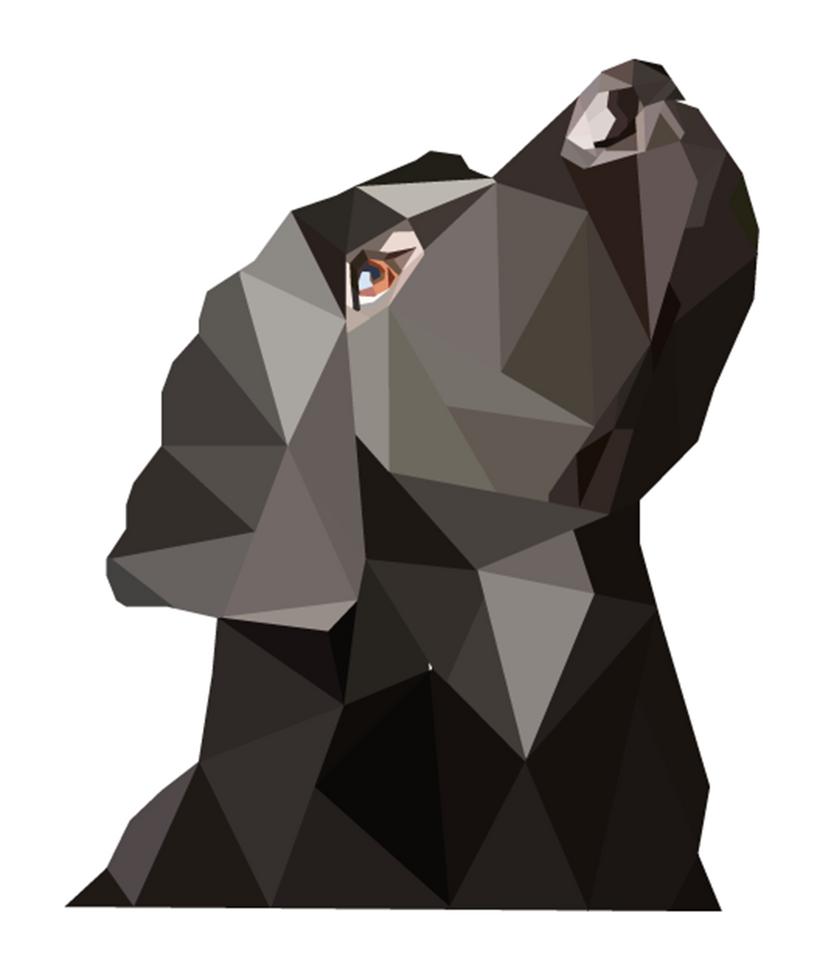 Black Labrador Geo Art (Print Version)