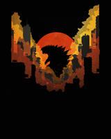 Godzilla by JenJenRobot