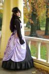 Liliac victorian gothic dress