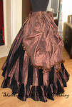 Steampunk bustle skirts