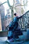 Silk victorian  bustle dress