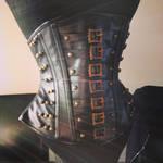 Leather corset by BlackvelvetSITC
