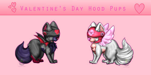 [OTA] Valentine's Day Hood Pups (2/2 OPEN) by AquaPyrofan