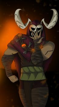 Ruh Kaah posing (Battlerite)