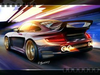 Purple Porsche 997 by BarneyHH